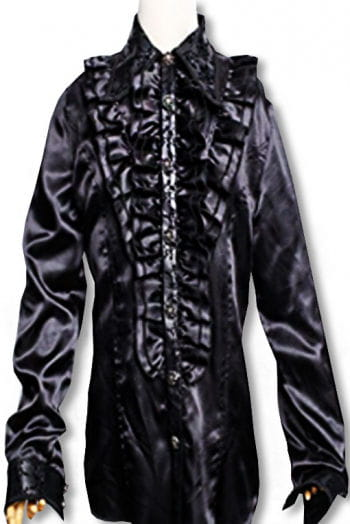Ruffled shirt Baroque Black XL