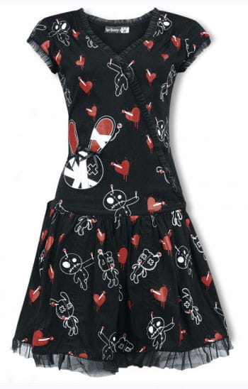 Luv Bunny Ruffle Dress with Print M / 38