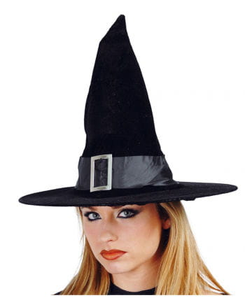 Velvet witch hat with buckle