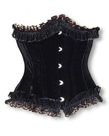 Satin Underbust Corset with Lace L