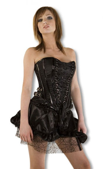 Satin corset with paint application