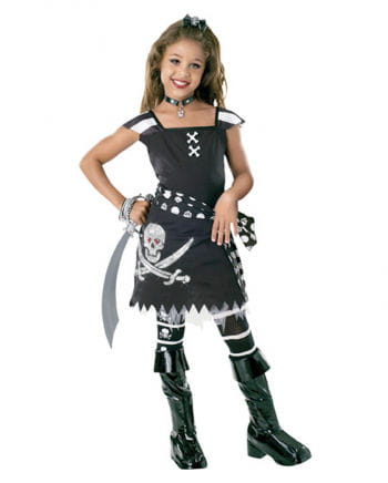 Scarlett Gothic Pirate Child Costume L