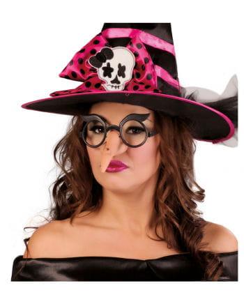 Scherzbrille mit Hexennase