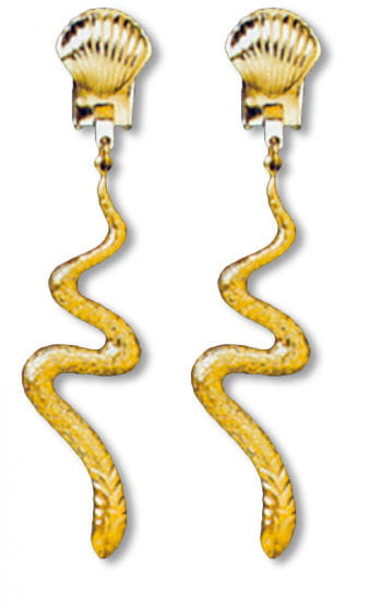 Snake earrings gold