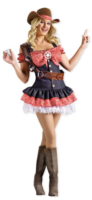 Cowgirl Kostüm mit Feuerwasser