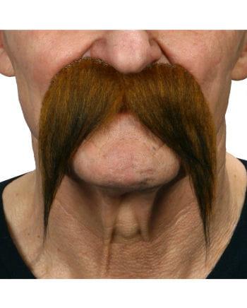 Mustache mottled brown-black