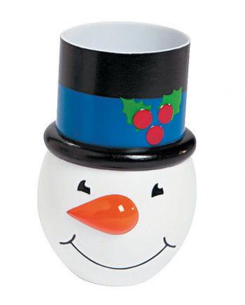 Snowman cup black-blue