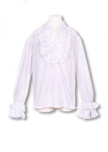 Baroque white ruffled shirt