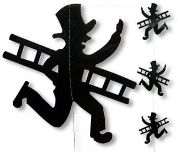 New Years Chimney Sweep Hanging Garland