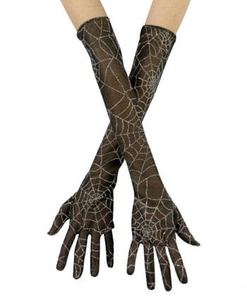 Cobwebs gloves silver