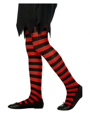 Striped Children tights black and red