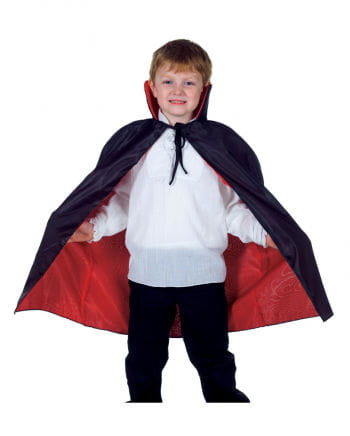 Black and red vampire cape for children