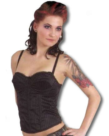 Black Corset with pinstripe