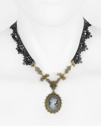 Viktorianische Halskette mit Cameo Anhänger