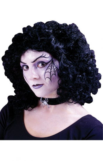 Party wig curly black