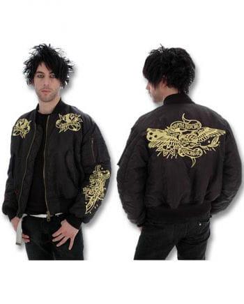 Black Muay Thai Bomber Jacket Size L