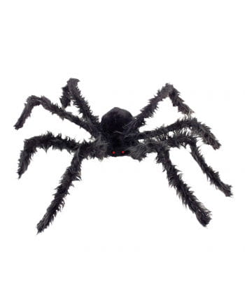 Black giant spider with glowing eyes