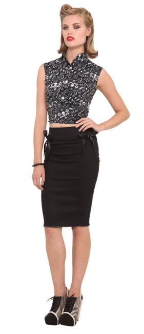 Oldschool black pencil skirt