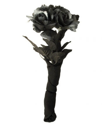 Black bridal bouquet with roses