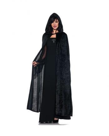 Velvet cape black