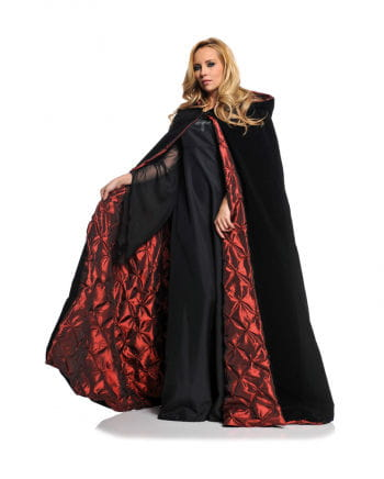 Red Lined Black Deluxe Velvet Cape