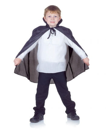 Black Vampire Cape for Kids