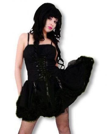 Schwarzes Gothic Punk Minikleid L