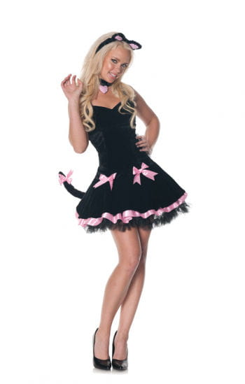 Black kitten costume for women