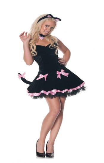 Schwarze Katze Damenkostüm XL
