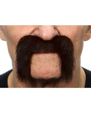 Adhesive biker mustache black-brown