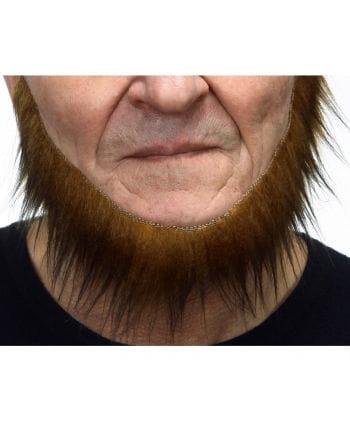 Selbstklebender Seefahrer Bart braun-schwarz meliert