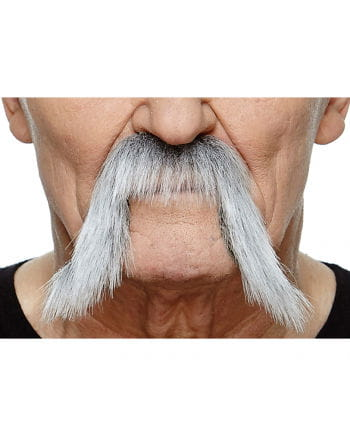 Adhesive Mongol beard mottled black-gray