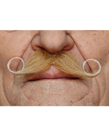 heather Adhesive handlebar mustache blond