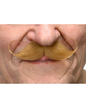 Self-adhesive handlebar mustache red-blond