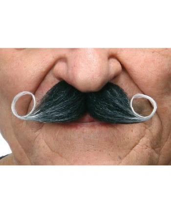 Self-adhesive handlebar mustache black heather
