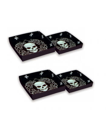 Platters with skull motif 4 Set