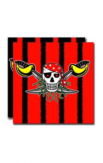 Servietten Red Pirate