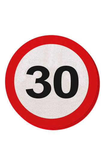 Napkin traffic sign 30
