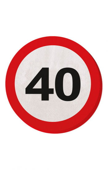 Napkin traffic sign 40