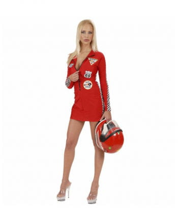 Sexy Racer Girl Costume Red