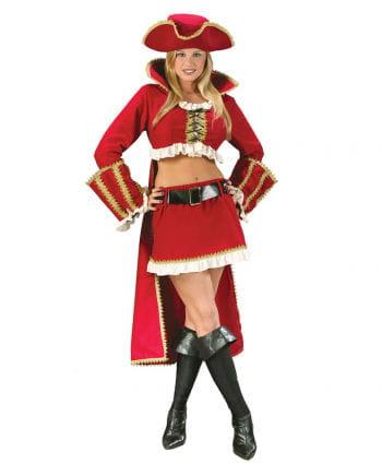 Sexy Captain Blackheart Piratin Kostüm Gr. 36-38 S/M