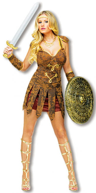 Sexy Gladiator Costume Brown M/L 38-40