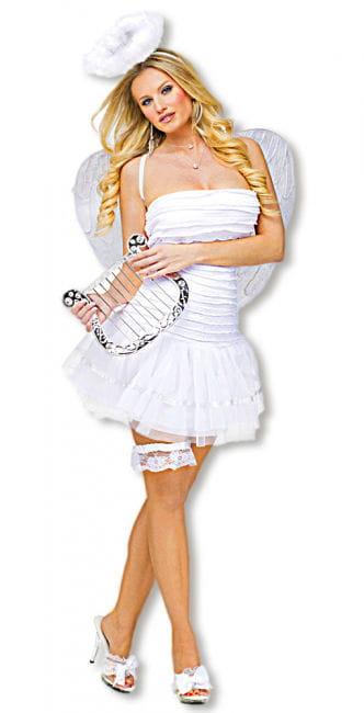 Sexy weißer Engel Kostüm