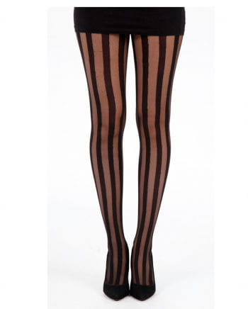 Tights with vertical stripes
