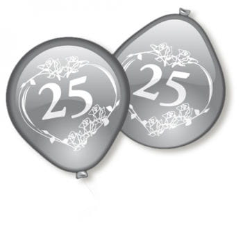 Silver Wedding Balloons 10 PCS
