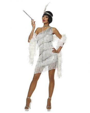 Silbernes Flapper Kostüm