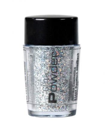 Glitterpuder Silber im Streuer