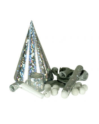 Silvester Party Set Deluxe silber 51-tlg.