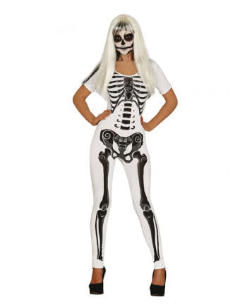 Skeleton Girl Ladies Costume Weiss