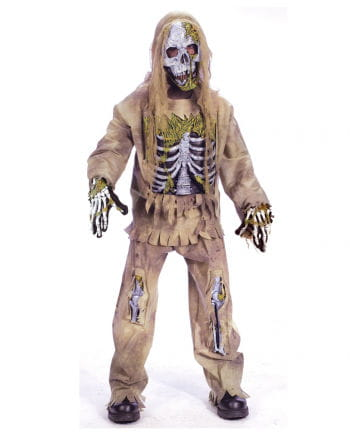 Skeleton Zombie Deluxe Child Costume S